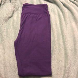 Solid purple LuLaRoe leggings